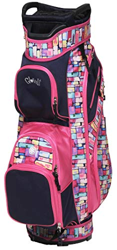 Glove It Women's Golf Bag, Lightweight Golf Cart Bag for Ladies with 14 Golf Club Holders, Putter Well & 9 Easy-Access Pockets, Tile Fusion
