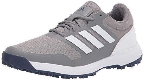 adidas Men's Tech Response Spikeless Golf Shoe, Grey Three/Ftwr White, 10