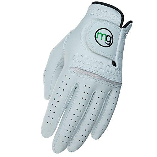 MG Golf Glove Mens Left (RH Golfer) DynaGrip Elite All-Cabretta Leather (Medium Cadet Size)