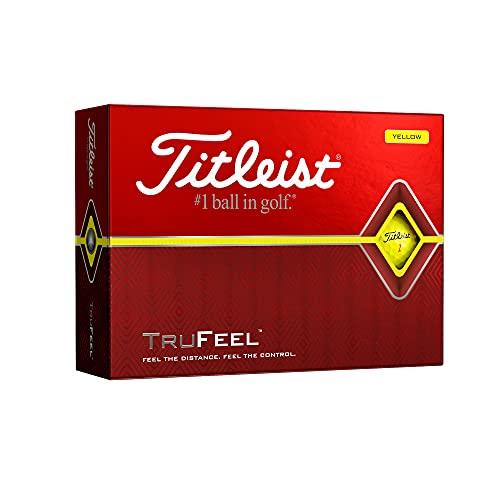 Titleist TruFeel Golf Balls, Yellow, (One Dozen)
