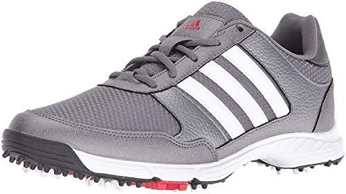 adidas Men's Tech Response Golf Shoe, Iron Metallic/White, 10.5 M US