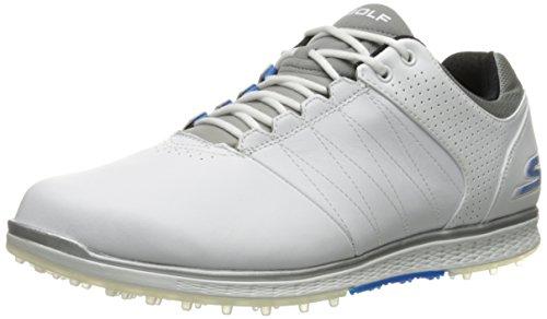 Skechers Performance Men's Go Golf Elite 2 Wide Golf Shoe,White/Gray/Blue,11 W US