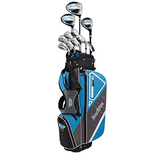 Tour Edge Golf Varsity Bazooka 370 Teen Starter Set-LH, Black/Blue, One Size (B6SLGU08.B)