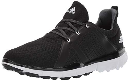 adidas Women's Climacool CAGE Golf Shoe, core Black/FTWR White/Grey six, 5 M US