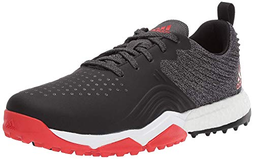 adidas Men's Adipower 4ORGED S Golf Shoe, core Black/red/FTWR White, 7.5 M US