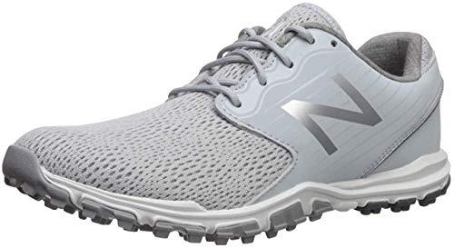 New Balance Women's Minimus SL Breathable Spikeless Comfort Golf Shoe, Light Grey, 6.5