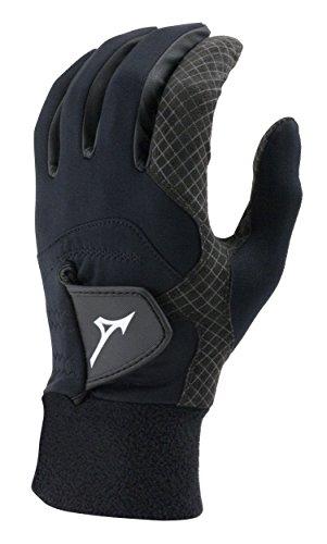 Mizuno 2018 ThermaGrip Men's Golf Glove, Pair, Black, Small
