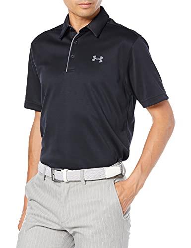 Under Armour Men's Tech Golf Polo , Black (001)/Graphite, Large