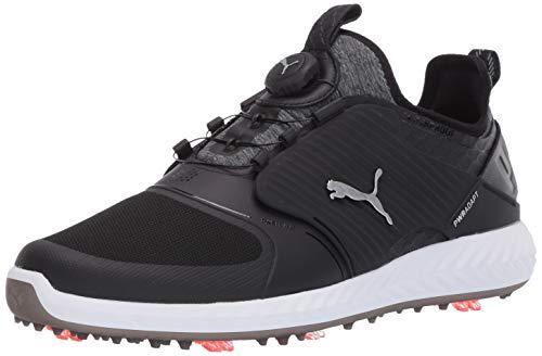 PUMA mens Ignite Pwradapt Caged Disc Golf Shoe, Puma Black-puma Silver-puma Black, 10.5 US