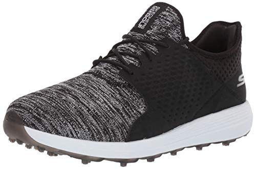 Skechers Men's Max Rover Relaxed Fit Spikeless Golf Shoe, Black/White, 8.5 M US