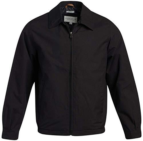 Perry Ellis Men's Jacket – Lightweight Microfiber Windbreaker Golf Coat, Size Large, Black