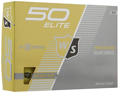 Wilson Staff Fifty Elite Golf Ball, Yellow