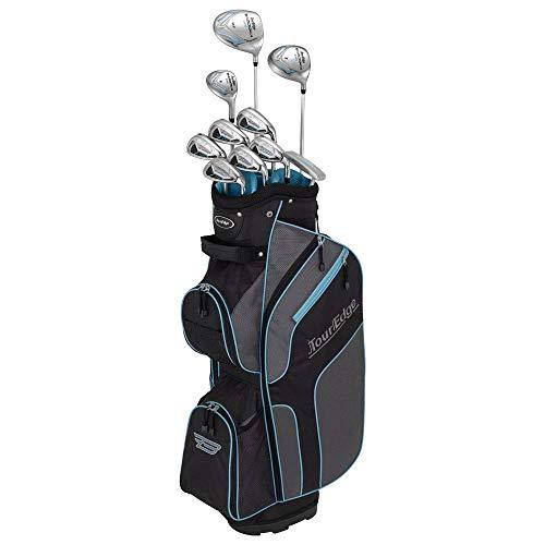Tour Edge 2020 Women Bazooka 270 Full Golf Set, Black/Grey/Turquoise, One Size, Model: B5SRGL10.B
