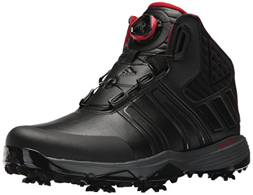 adidas Men's Climaproof BOA Golf Shoe, Black, 10 M US