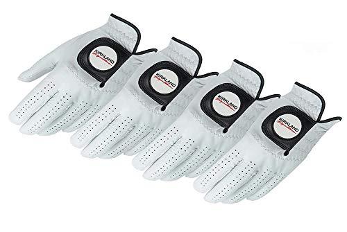 KIRKLAND SIGNATURE Golf Gloves Premium Cabretta Leather, Medium-Large, 4 Pack