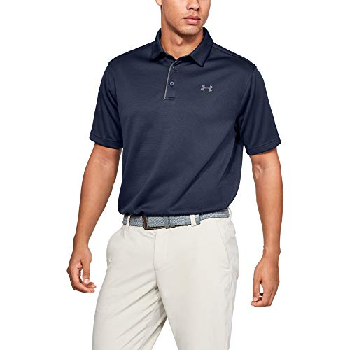 Under Armour Men's Tech Golf Polo , Midnight Navy (410)/Graphite, X-Large