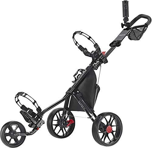 Caddytek CaddyLite 11.5 V3 3 Wheel Golf Push Cart - Superlite Deluxe, Lightweight, Easy to Fold Caddy Cart Pushcart, Black