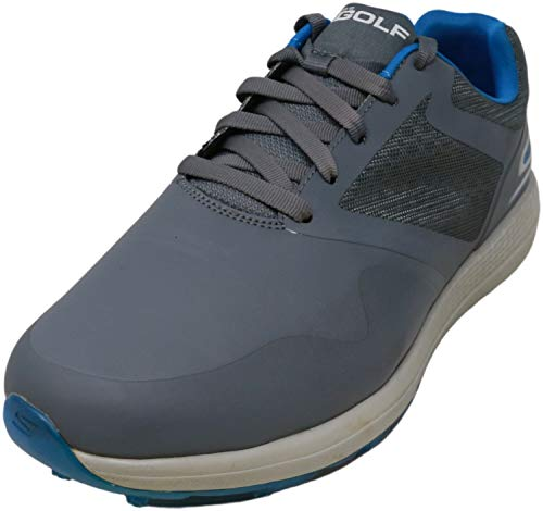 Skechers mens Max Golf Shoe, Charcoal/Blue, 12 US