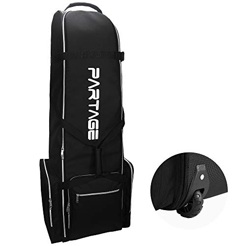 Partage Golf Travel Bag with Wheels,Golf Travel Case for Airlines -Black