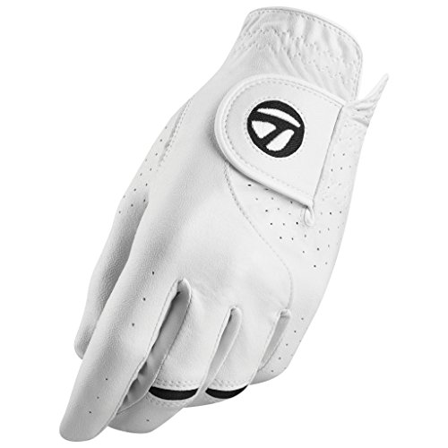 TaylorMade Stratus Tech Glove 2-Pack (White, Left Hand, X-Large), White(X-Large, Worn on Left Hand)