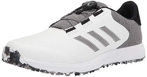adidas mens Golf Shoe, White/Black/Grey, 12 US