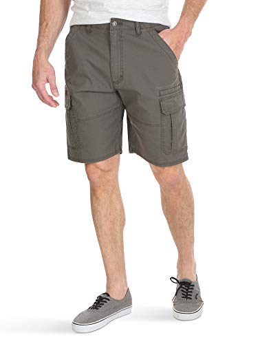 Wrangler Authentics Men's Classic Relaxed Fit Stretch Cargo Short, Olive drab Ripstop, 30