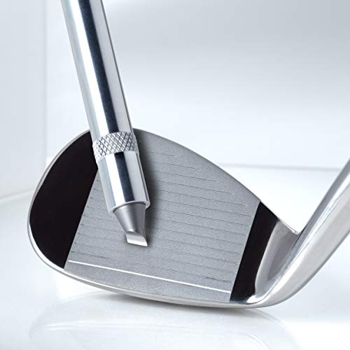 nU Groove Sharpener - Golf Club Groove Sharpener, Re-Grooving Tool and Cleaner for Wedges & Irons - Generate Optimal Backspin by Restoring Your Old Irons - PGA Recommended - Made in USA