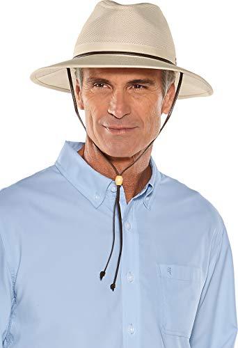 Coolibar UPF 50+ Men's Kaden Crushable Ventilated Hat - Sun Protective (Large/X-Large- Natural)