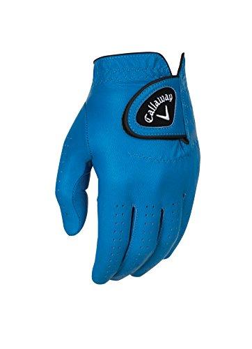 Callaway Golf Men's OptiColor Leather Glove, Blue, Medium, Worn on Left Hand