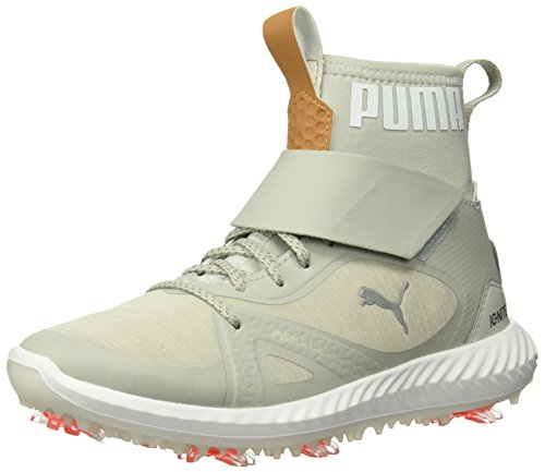 Puma Golf Boy's Ignite Pwradapt Hi-Top Golf Shoe, Gray Violet/Silver, 2 Youth US Big Kid