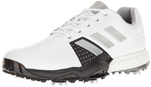adidas Men's Adipower Boost 3 Golf Shoe, White/Silver Metallic/Black, 13 M US