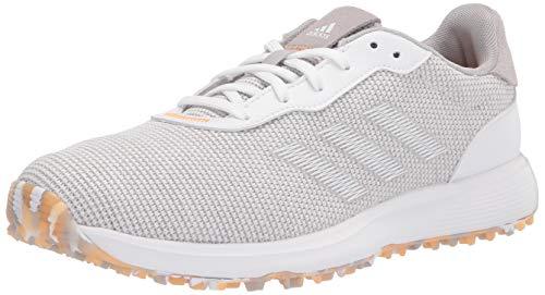 adidas mens Golf Shoe, Grey/White/Hazy Orange, 12.5 US