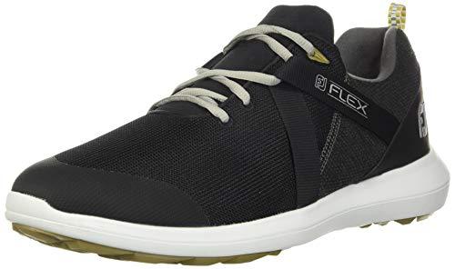 FootJoy Men's FJ Flex Previous Season Style Golf Shoes, Black, 7 M US