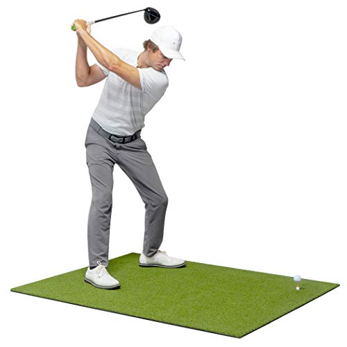 GoSports Golf Hitting Mats - Artificial Turf Mat for Indoor/Outdoor Practice, Choose Your Size - Includes 3 Rubber Tees