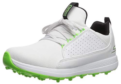 Skechers Boy's Max Mojo Spikeless Golf Shoe, White/Lime, 6 M US Big Kid