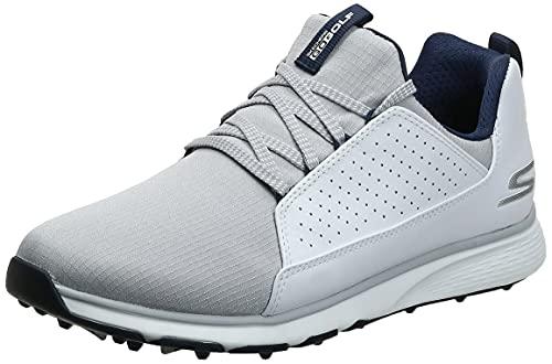 Skechers Men's GO Mojo Waterproof Golf Shoe, White/Gray Textile, 10.5 M US
