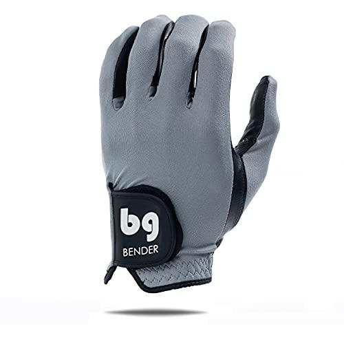 Bender Gloves Men's Spandex Golf Glove, Worn on Left Hand (Gray, Small)