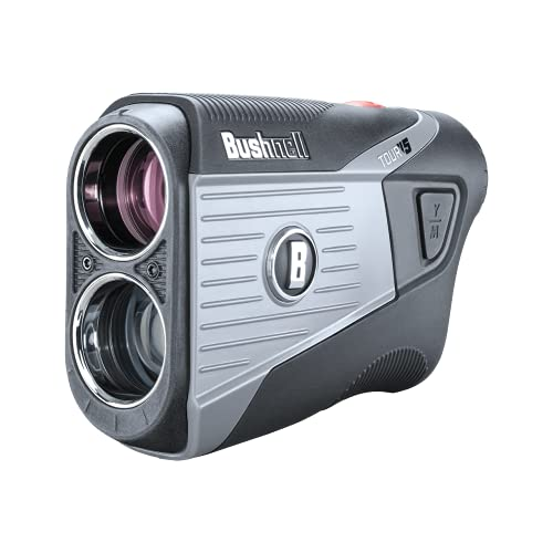 Bushnell Tour V5 Golf Laser Rangefinder | Pinseeker | Visual JOLT | BITE Magnetic Mount | Next Level Clarity and Brightness | None Slope Model | 201901