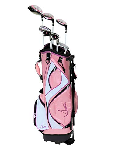 Sephlin - Lady Talia Pink Right Hand 7 Pieces Golf Clubs Set and Golf Bag Ages 10-14
