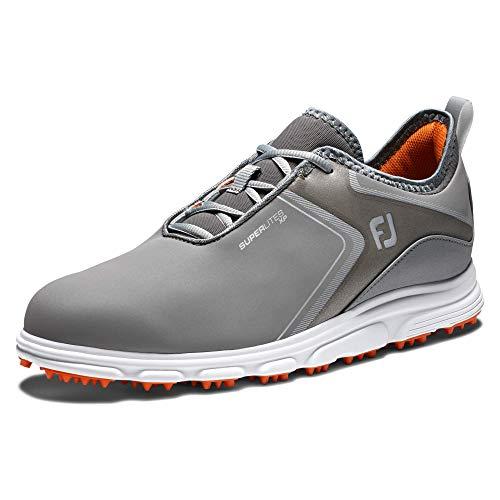 FootJoy Men's Superlites XP Previous Season Style Golf Shoes, Grey/Black, 11.5 M US