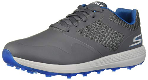Skechers mens Max Golf Shoe, Charcoal/Blue, 11 US