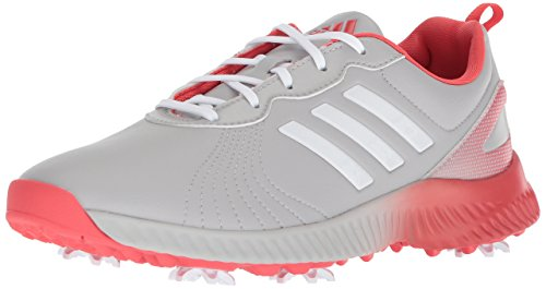 adidas Women's Response Bounce Golf Shoe, grey two ftwr white/real coral s, 10 Medium US