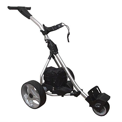 NovaCaddy Remote Control Electric Golf Trolley Cart, Silver, Lead Acid Battery