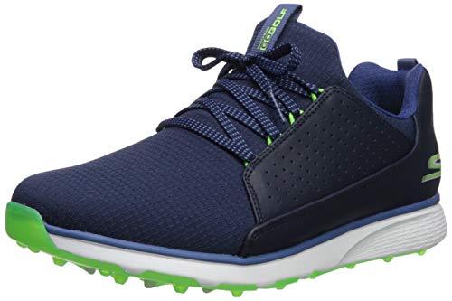 Skechers Men's GO Mojo Waterproof Golf Shoe, Navy/Lime Textile, 12 M US