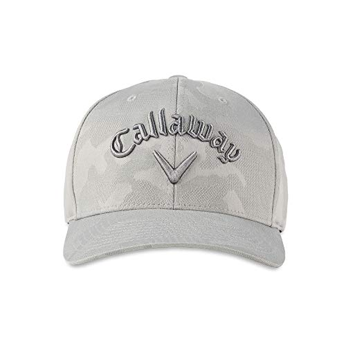 Callaway Camo Flexfit Snapback Hat, One Size, Grey