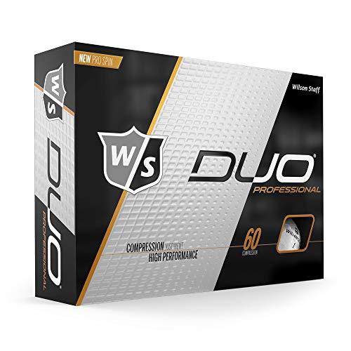 Wilson Staff DUO Golf Ball, Professional, White
