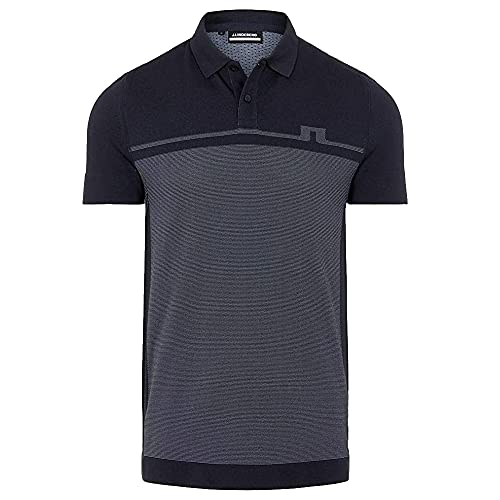 J.Lindeberg Alfred Seamless Mens Golf Polo, Navy, S