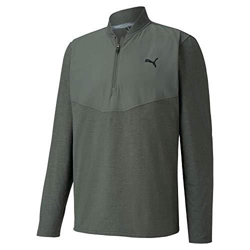 PUMA Golf 2020 Men's Cloudspun Stlth 1/4 Zip, Thyme Heather, Medium