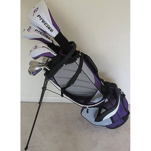 Petite Womens Complete Golf Set - for Ladies 5ft to 5ft 6in Tall - Custom Fit Clubs Driver, Wood, Hybrid, Irons Deluxe Stand Bag
