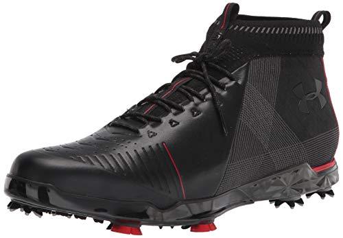 Under Armour Men's Spieth 2 Mid GT Golf Shoe, Black (001)/Spice Red, 10